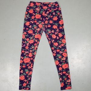 Women's LuLaRoe floral print one size leggings